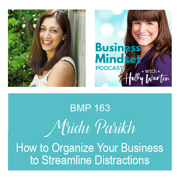 BMP163 Mridu Parikh ~ How to Organize Your Business to Streamline Distractions